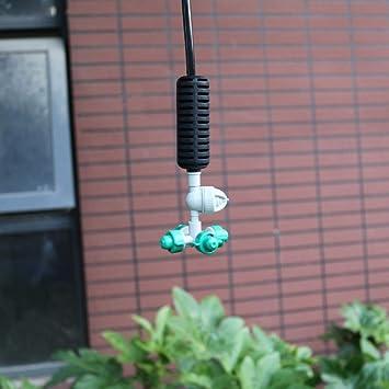 10 sistemas de nebulizador Cruz de niebla colgante kit rociador de agua nebulización para jardín invernadero riego 1/4 accesorios de manguera: Amazon.es: Bricolaje y herramientas