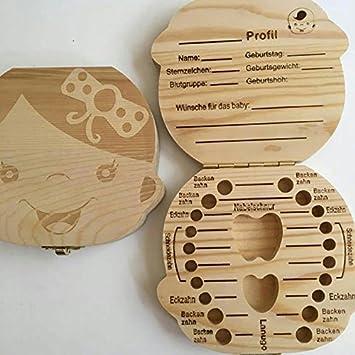 WeiMay Baby Zahn Box Woody Fetale Haarschutzbox Milchz/ähne Speichere die Box Kreativ Kinder Junge Lebensgadgets Kleines Spielzeug