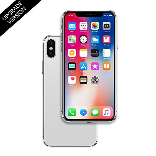 Metal Dummy Phone Model for Apple iPhone X 10 5.8 inch Non-Working 1:1 Scale Toy Case (Silver, Color Screen)