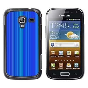 FECELL CITY // Duro Aluminio Pegatina PC Caso decorativo Funda Carcasa de Protección para Samsung Galaxy Ace 2 I8160 Ace II X S7560M // Stripe Pattern Vertical Lines