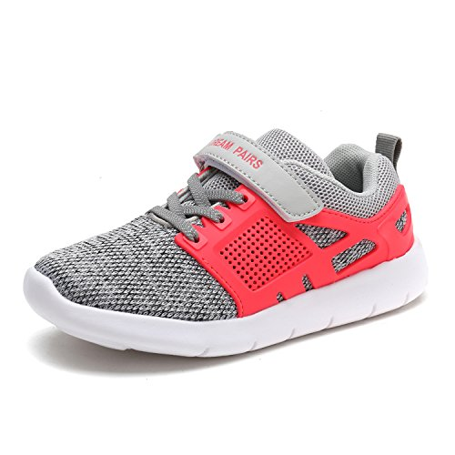 DREAM PAIRS Toddler 170946_K Light Grey Coral Fashion Running Shoes Sneakers Size 10 M US Toddler