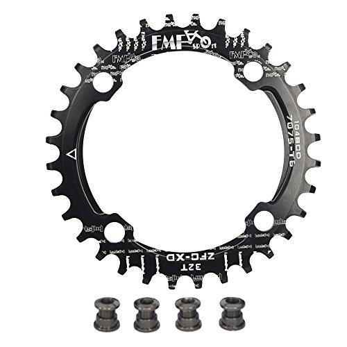 - UPANBIKE Bike Narrow Wide Chainring 104 BCD Round Shape Single Chain Ring 32T 34T 36T 38T
