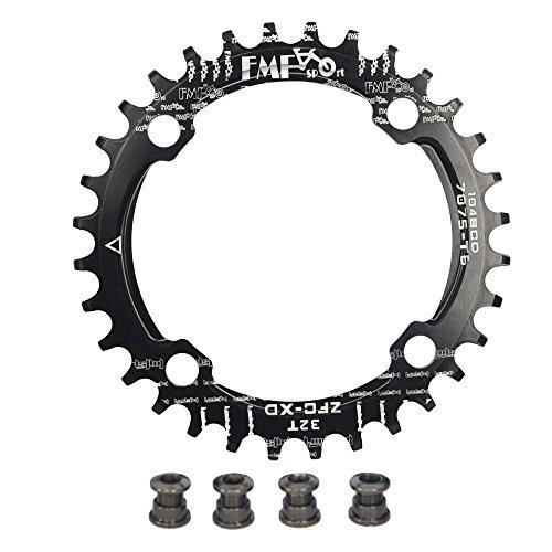 UPANBIKE Bike Narrow Wide Chainring 104 BCD Round Shape Single Chain Ring 32T 34T 36T ()