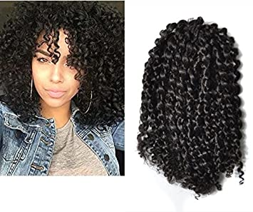 Amazoncom Mali Bob Braid Hair Extensions Kinky Curly Bulk Twist