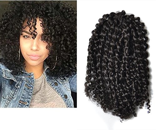 Amazon Mali Bob Braid Hair Extensions Kinky Curly Bulk Twist