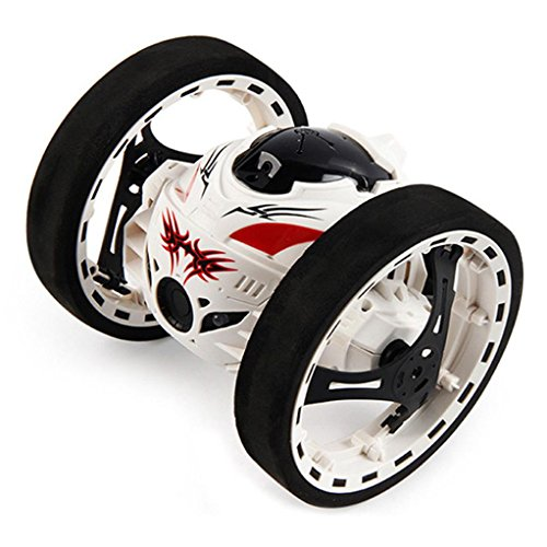 Gotd SJ88 2.4GHz RC Bounce Car Racing Shock Resistance Flexible Wheels Speed Switch, White by Goodtrade8