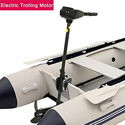 12V 50 Pound Electric Black Thrust Ship Boat Trolling Motor Hand Control