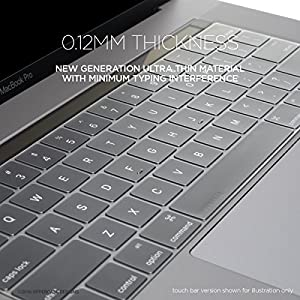 "UPPERCASE GhostCover Premium Ultra Thin Keyboard Protector for MacBook Pro with Function Keys 13"", NO Touch Bar (2016 Release, Apple Model Number A1708), US/EU Keyboard Layout Compatible"