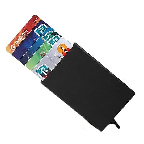 Tarjeteros RFID Cartera Crédito Cartera de Aleación de Aluminio Multiuso Bolsillos Porta Tarjetas de Bloqueo RFID