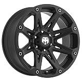 Trailmaster TM210-7973SB Alloy Wheel; Size 17X9; Bolt Pattern: 5X5; Max Load 2200 lbs.; Back Space 4.75 in.; Offset Negative 6mm; Finish: Satin Black;