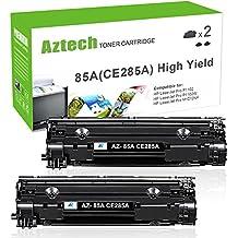 AZTECH 2 Pack 2,500 Pages High Yield Replaces 85A CE285A CE285X CE285 Black Toner Cartridge For LaserJet Pro P1102 P1102W P1100 M1212NF M1217NFW MF3010 M1210 M1132 Printer