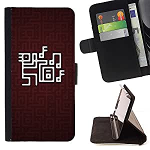 DEVIL CASE - FOR Apple Iphone 5 / 5S - Abstract Pattern - Style PU Leather Case Wallet Flip Stand Flap Closure Cover