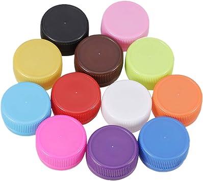 SUPVOX 200 Piezas de Tapas de Botellas de plástico artesanías DIY Coloridas Botellas de Bebidas Cubre proyectos de Arte para niños de jardín de Infantes (Color Mixto): Amazon.es: Juguetes y juegos