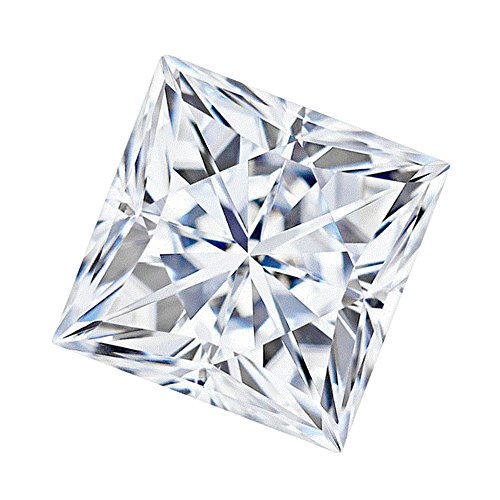 6.5 MM Square Brilliant Cut Forever One® Loose Moissanite by Charles & Colvard - Very Good Cut (1.50ct Actual Weight, 1.70ct Diamond Equivalent Weight) by Forever One DEF