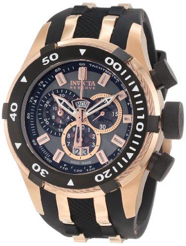 Invicta 0978 Reserve Men's Bolt Swiss Made Quartz Chronograph Tachymeter Polyurethane Strap Watch (Watch Tachymeter Chronograph Gents)