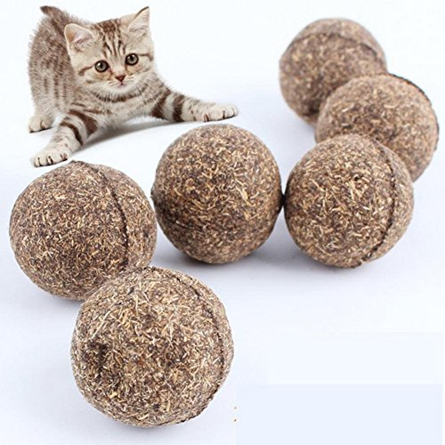well-wreapped Kelier Compressed Catnip Cat Toy - Set of 5