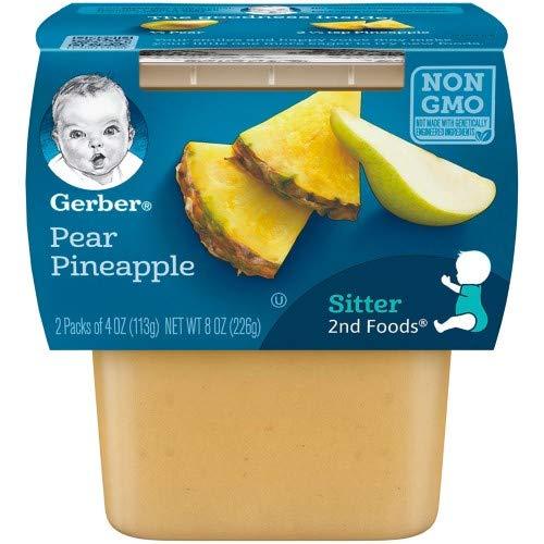Pineapple Pear - Gerber 2nd Foods Pear Pineapple (Pack of 6)