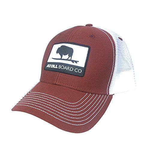 Atoll Board Companys Best Fitting Mesh Trucker Baseball Hat Atoll ISUP Board Co (red)
