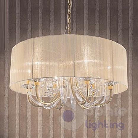 Lámpara Ø70 cm lámpara techo diseño elegante moderno acero ...