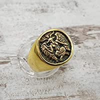 Baphomet ring, Sabbatic Goat, Occult Satanic ring | Freemason Ring | Masonic Ring | Wiccan ring | Satanic Ring | Sterling Silver 925, Yellow, White Gold | Handmade | Any Sizes