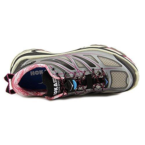Hoka Mafate Speed Womens Trail Laufschuhe - SS16 Grey/Black/Fuschia