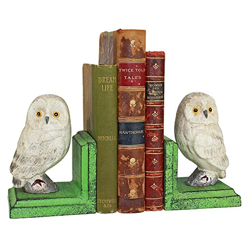 Design Toscano Wise Snowy Owl Cast Iron Sculptural Bookend P