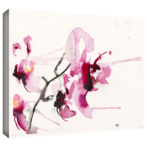 Tri Orchid (Art Wall Karin Johannesson 'Orchids III' Gallery-Wrapped Canvas Artwork, 36 by 48-Inch)