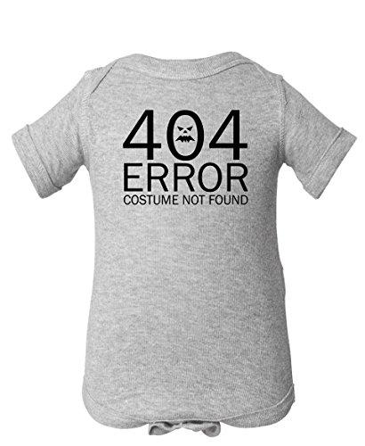 [Tenacitee Baby Boy's 404 Costume Not Found Bodysuit, Newborn, Heather Grey] (Nerd Halloween Costumes Guy)