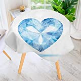 Shadow Box Coffee Table UHOO2018 Table Decoration Durable-Collection Big Hanging Valentine Heart with Bright Shades Shadow Box Passion Romance Fortune for Home Kitchen Dining roomWaterproof Coffee Tablecloth 50