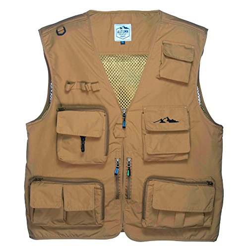 Autumn Ridge Traders Fly Fishing Photography Vest with 16 Pockets Made with Lightweight Mesh Fabric for Travelers