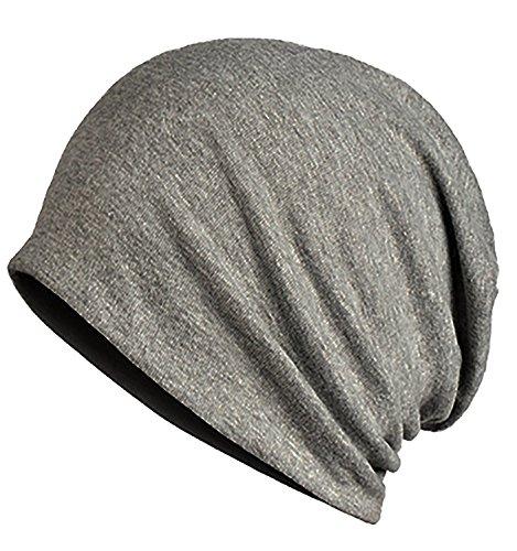 Laquest - Gorro de Punto - para Mujer gris claro