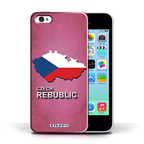 KOBALT® Hülle Case für Apple iPhone 5C | Tschechische Entwurf | Flagge Land Kollektion