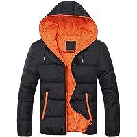 Kisshes Giacche Invernali da Uomo Cappotto Giacca Trapuntata con Zip Integrale sul Cappuccio