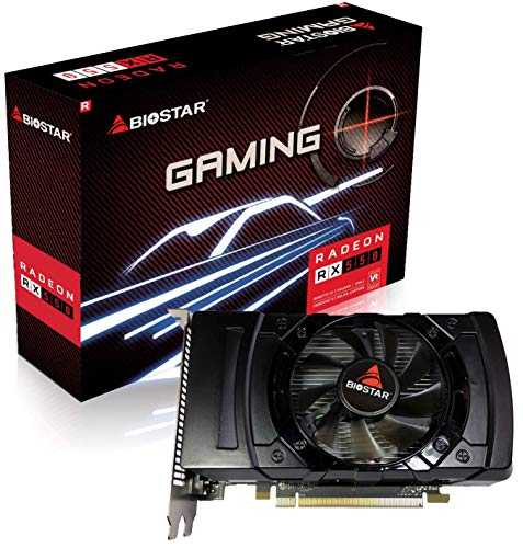 Biostar Radeon RX 550 4GB GDDR5 128-Bit DirectX 12 PCI Express 3.0 x16 DVI-D Dual Link, HDMI, DisplayPort, Gaming Edition (Slimline Graphics Card)