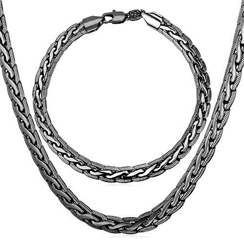 U7 Necklace Bracelet Platinum Jewelry