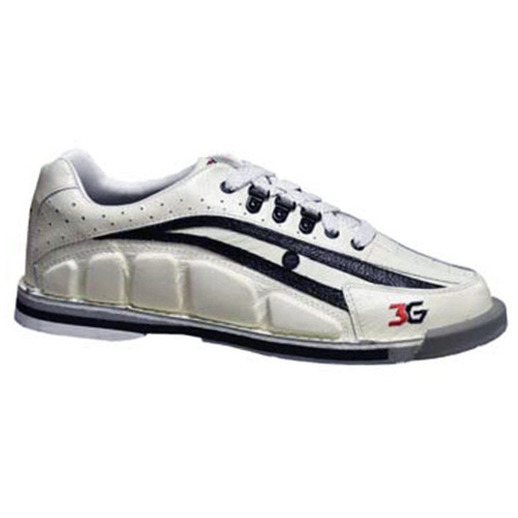 Bowlerstore Products 3G Mens Tour Ultra Bowling Shoes Right Hand- White/Black (6 M US, White/Black)