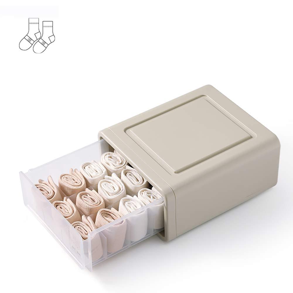 Caja de almacenaje Caja de almacenamiento, ropa ropa ropa interior Caja de almacenamiento Tipo de cajón Sujetador de plástico Calzoncillos de ropa interior Compartimento de caja de acabado Caja de almacenamiento gruesa caja de almacenamiento bece9f