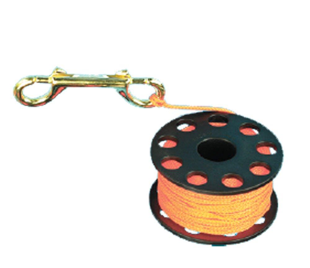 Trident 45 Ft Finger Reel with brass clip - orange