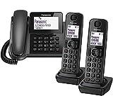Panasonic KX-TGF323E Corded and Cordless Nuisance Call Block Combo Telephone Kit - Trio Set