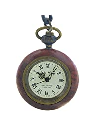 Timeconcept Luxury Women Lady Girl Japan Quartz Movement Necklace Pocket Watch Wooden Case Nice Gift