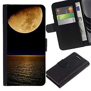 iBinBang / Flip Funda de Cuero Case Cover - Noche de Luna de esquí de la Media Luna Mar Noche - Sony Xperia Z3 Compact