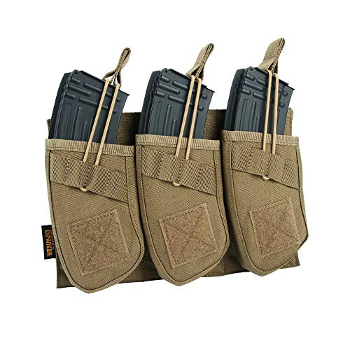 EXCELLENT ELITE SPANKER Tactical Open Top Magazine Single/Double/Triple AK Mag Pouch(Coyote Brown) ()