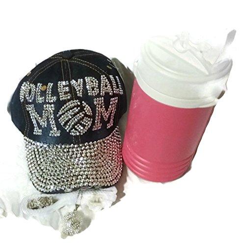 Rhinestone Sports Mom Bundle - 4 Items (Volleyball Mom)