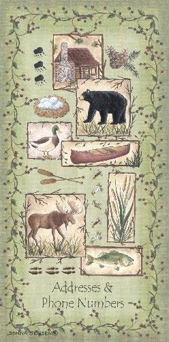 Nature Farmhouse Small Address Book Phone Book Paperback 3x6 inch