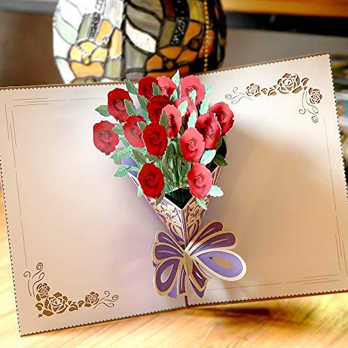(Paper Spiritz Thank You Christmas Postcard 3D Pop Up Laser Cut Wedding Birthday Greeting Gift Cards Thanksgiving Valentine's)