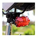 Iuhan® Fashion Bicycle Bike Cycling 5 Led Tail Rear Safety Flash Light Lamp Red With Mount For Sale