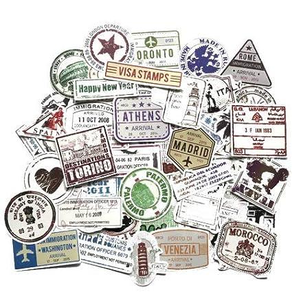 Pegatinas Retro Tarjetas de Embarque de Pasaje de Viaje ...