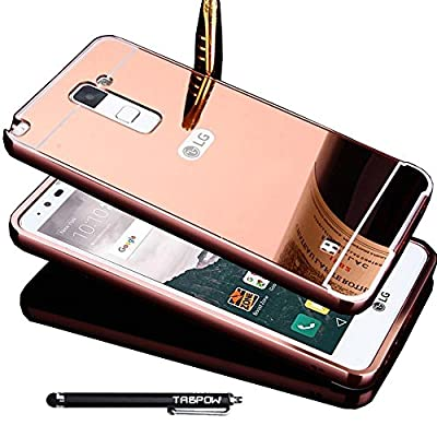 LG G Stylo 2 Case, TabPow Mirror Case Series - Electroplate Bumper Bling Luxury Slim Hard Back Case Cover For LG G Stylo 2 (LS775), from TabPow