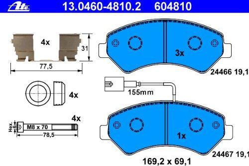 ATE 13.0460-4810.2 Bremsbelagsatz, Scheibenbremse Continental AG