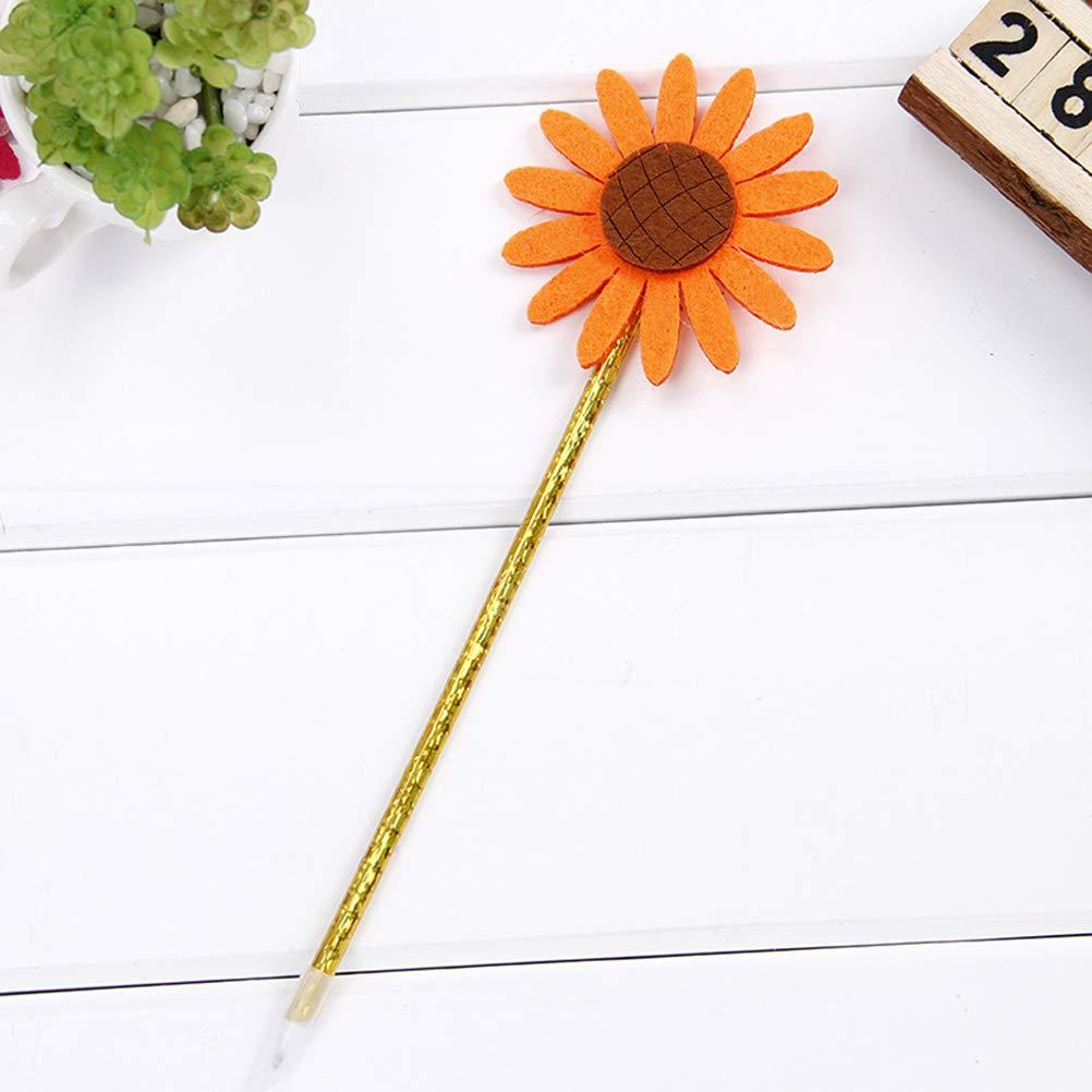 Random Color TOYANDONA 5pcs Creative ballpoint pens novelty sunflower pen stationery gift student